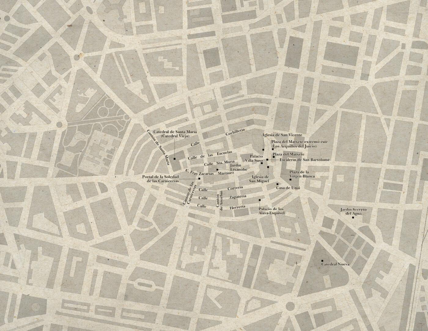 Localizaciones de la Trilogia de la Ciudad Blanca